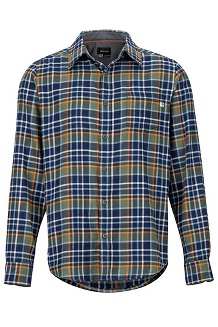 Men's Fairfax Midweight Flannel Long-Sleeve Shirt, Crocodile, medium