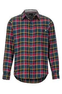 Men's Fairfax Midweight Flannel Long-Sleeve Shirt, Team Red, medium