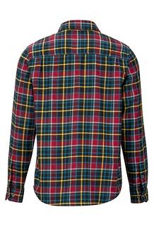 Men's Fairfax Midweight Flannel Long-Sleeve Shirt, Team Red, medium