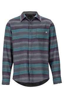Men's Fairfax Midweight Flannel Long-Sleeve Shirt, Fig, medium