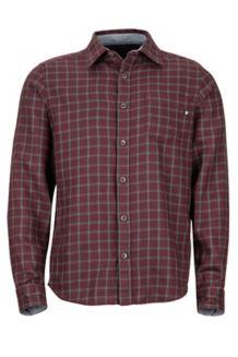 Fairfax Midweight Flannel LS Shirt, Burgundy, medium