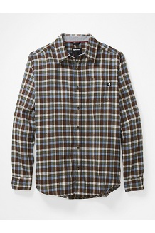 Men's Fairfax Midweight Flannel Long-Sleeve Shirt, Brown, medium