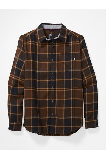 Men's Fairfax Midweight Flannel Long-Sleeve Shirt, Bronze, medium