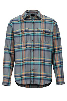 Men's Zephyr Cove Midweight Flannel Long-Sleeve Shirt, Cinder, medium