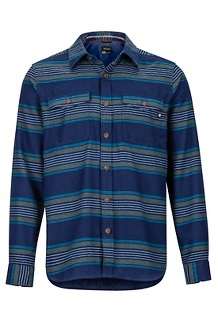 Men's Zephyr Cove Midweight Flannel Long-Sleeve Shirt, Arctic Navy, medium