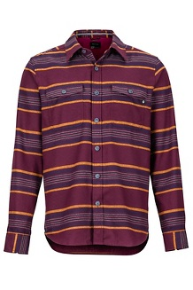 Men's Zephyr Cove Midweight Flannel Long-Sleeve Shirt, Fig, medium
