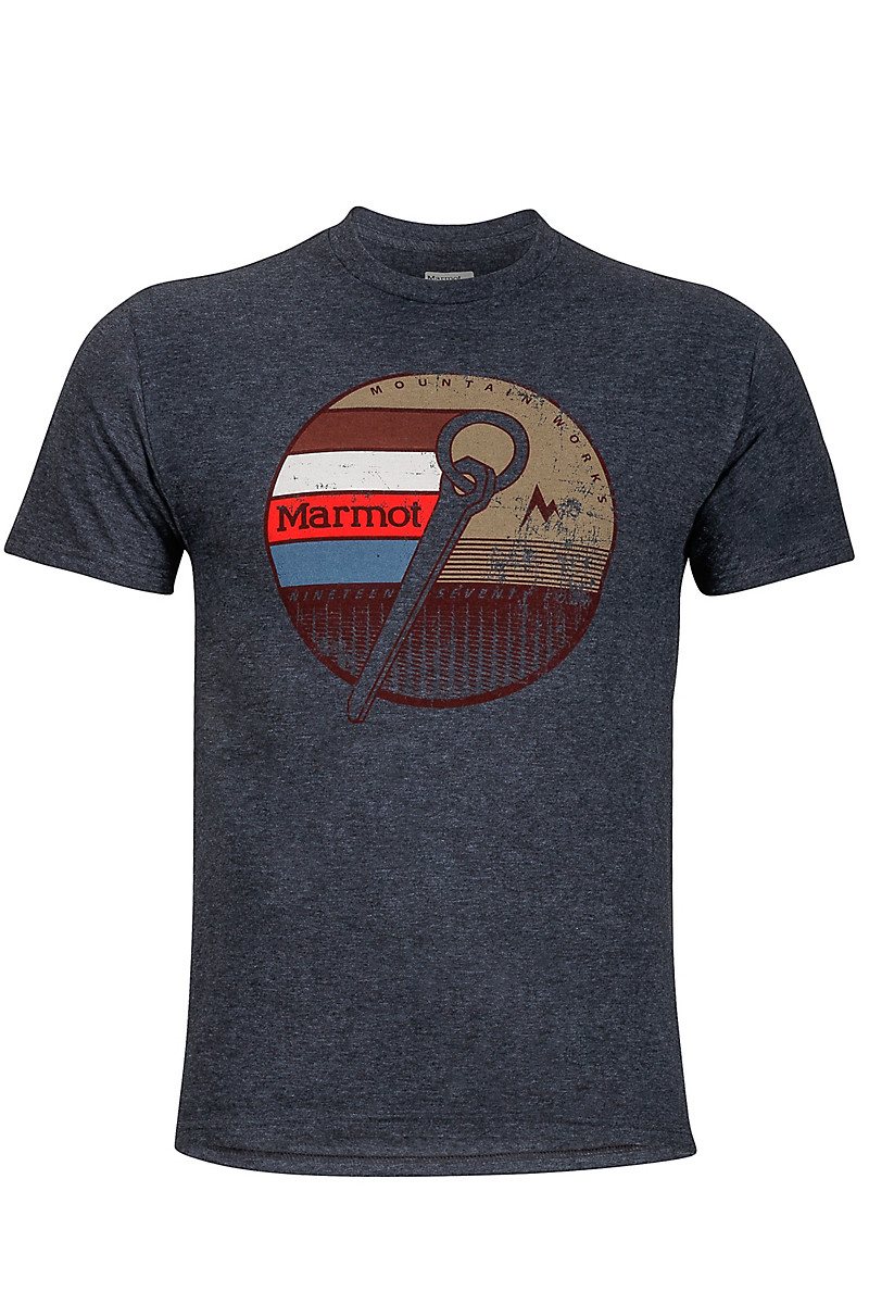 Rock Tee SS, Charcoal Heather, large