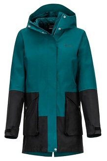 Women's Wend Jacket, Deep Teal/Black, medium