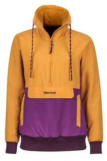 Women's Lynx Insulated Anorak, Golden Eye/Grape, medium