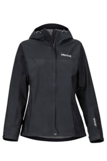 Women's Minimalist Waterproof Jacket, Black, medium