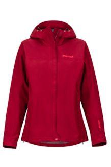 Women's Minimalist Waterproof Jacket, Brick, medium