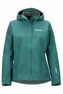 Women's Minimalist Waterproof Jacket, Mallard Green, medium