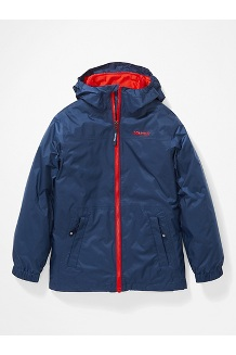 Kids' PreCip Eco Component 3-in-1 Jacket, Arctic Navy/Victory Red, medium