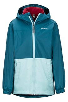 Kids' PreCip Eco Component 3-in-1 Jacket, Moroccan Blue/Sail blue, medium
