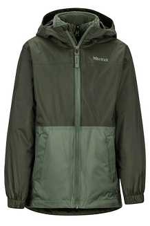 Boys' Precip Eco Component 3-in-1 Jacket, Rosin Green/Crocodile, medium