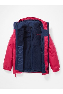 Kids' PreCip Eco Component 3-in-1 Jacket, Very Berry/Arctic Navy, medium