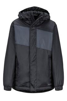 Boys' Precip Eco Insulated Jacket, Black/Dark Steel, medium