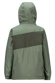 Boys' Precip Eco Insulated Jacket, Crocodile/Rosin Green, medium