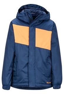Boys' Precip Eco Insulated Jacket, Arctic Navy/Ember, medium