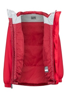 Boys' Precip Eco Insulated Jacket, Team Red/Brick, medium