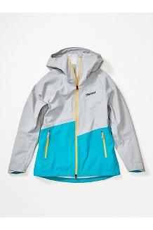 Women's EVODry Clouds Rest Jacket, Sleet/Enamel Blue, medium