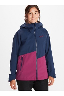 Women's EVODry Clouds Rest Jacket, Arctic Navy/Wild Rose, medium