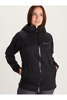Women's PreCip Stretch Jacket, Black, medium