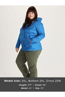 Women's PreCip Eco Jacket Plus, Arctic Navy, medium