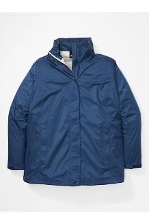Women's PreCip Eco Jacket Plus, Arctic Navy, medium