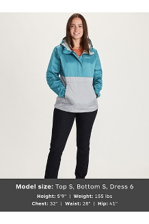 Women's PreCip Eco Anorak, Enamel Blue/Sleet, medium
