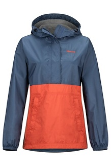Women's PreCip Eco Anorak, Storm/Kashmir, medium