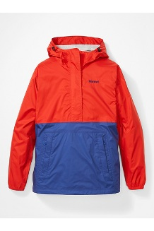 Women's PreCip Eco Anorak, Victory Red/Royal Night, medium