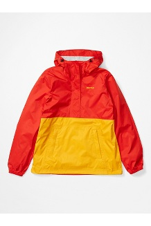 Women's PreCip Eco Anorak, Victory Red/Solar, medium