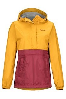 Women's PreCip Eco Anorak, Yellow Gold/Claret, medium