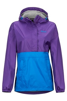 Women's PreCip Eco Anorak, Acai/Clear Blue, medium