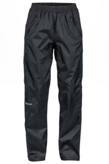 Women's PreCip Full Zip Pant S, Black, medium