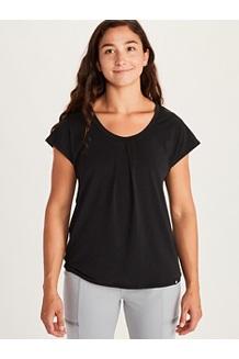 Women's Theia Short-Sleeve Shirt, Black, medium