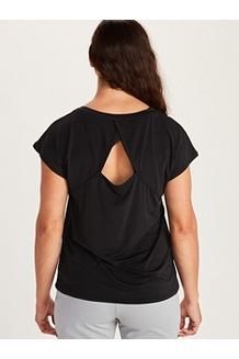 Women's Theia Short-Sleeve Shirt, Black, medium