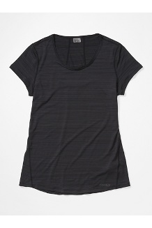 Women's Aura Short-Sleeve Shirt, Black, medium