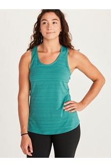 Women's Aura Tank Top, Deep Jungle, medium