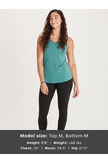 Women's Aura Tank Top, Mandarin Mist, medium