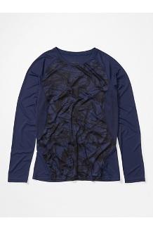 Women's Crystal Long-Sleeve Shirt, Arctic Navy Race Line, medium