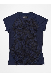 Women's Crystal Short-Sleeve Shirt, Arctic Navy Race Line, medium