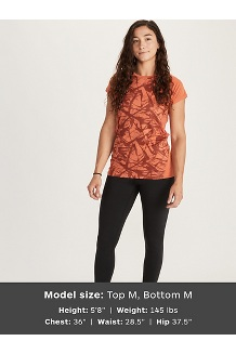 Women's Crystal Short-Sleeve Shirt, Amber Race Line, medium