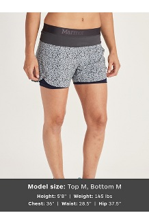 Women's Pulse Shorts, Black, medium