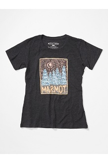 Women's Woodblock Short-Sleeve T-Shirt, Charcoal Heather, medium