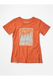 Women's Woodblock Short-Sleeve T-Shirt, Amber Heather, medium
