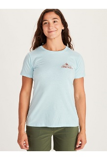 Women's Arrow Short-Sleeve T-Shirt, Corydalis Blue Heather, medium