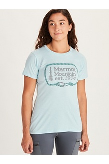 Women's Ascender Short-Sleeve T-Shirt, Corydalis Blue Heather, medium