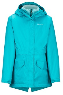 Girls' Precip Eco Component 3-in-1 Jacket, Blue Tile, medium